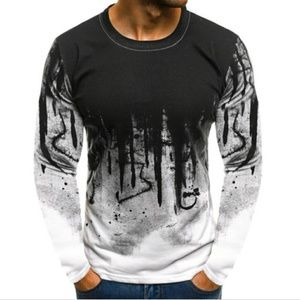 Other - Long Sleeve Crew Neck Graffiti Inspired Shirt